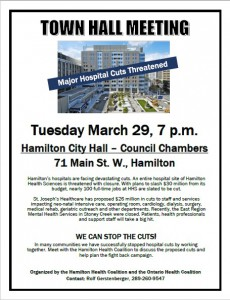 HAMILTON town hall meeting poster