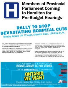Hamilton Pre-budget hearing rally