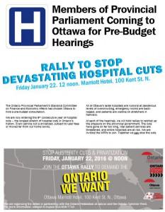 Ottawa Pre-budget hearing rally