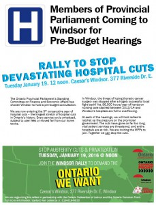 Windsor Pre-budget hearing rally
