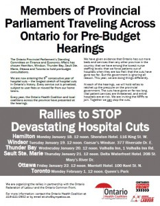 cross-province pre-budget rallies poster